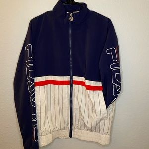 VINTAGE FILA baseball zip up jacket